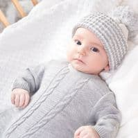 A2623G Cable Knitted Onesie